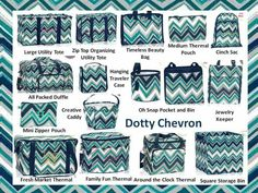 New Dotty Chevron!  Fall / Winter 2015.  Thirty One Gifts!  Love this pattern too. Want them all! Maybe someday...lol