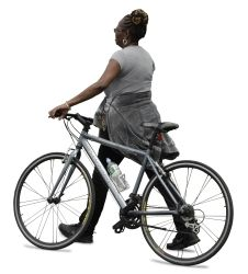 Cutout Woman Bicycle 0018 available for download in XL size
