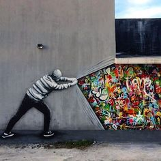 Something new from Martin Whatson in Miami for Smashed Canvas #streetartnews #streetart @martinwhatson @wynwoodmap