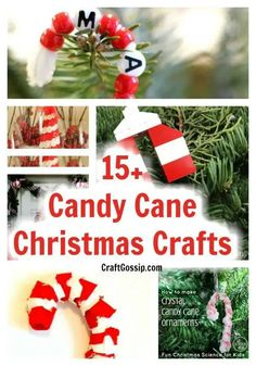 15 Christmas Candy Cane Crafts You Can Make For The Holidays – Home and Garden Candy Cane Christmas Tree, Holiday Candy, Kids Christmas, Christmas Tree Ornaments, Holiday Crafts, Candy Cane Crafts, Candy Cane Ornament, Ornament Crafts, Candy Cane Sleigh