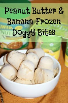 PB & Banana Frozen Dog Bites from Living Better Together @ DIY Sunday Showcase