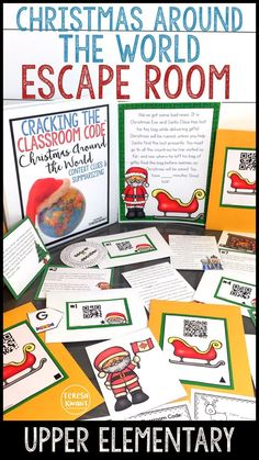 This Christmas around the world escape room is sure to capture the attention of your upper elementary students. Grades 3-5 will find this reading game engaging and fun. Students will learn about different countries, and practice context clues and summarizing. Cracking the Classroom Code™️ escape rooms are the perfect way to get kids working in teams, using critical thinking skills, learning, and having fun.