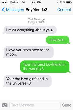 Boyfriend Text Messages on Pinterest
