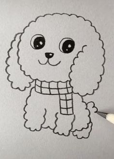puppy drawing easy cute * puppy drawing easy _ puppy drawing easy step by step _ puppy drawing easy for kids _ puppy drawing easy cute _ puppy drawing easy cartoon dog Cartoon Dog Drawing, Cute Cartoon Drawings, Easy Drawings For Kids, Cool Art Drawings, Cute Animal Drawings, Kawaii Drawings, Sketching For Kids, Minion Drawing, Easter Drawings