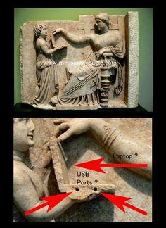 FORUM DE LA TAVERNE DE L'ETRANGE :: Un PC portable dans une fresque grecque ?