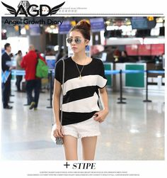 Find More T-Shirts Information about 2016 New Korean Large Size Women Short Sleeved T shirt Loose Modal Women Stitching Color Women's Shirt Fashion T shirts,High Quality shirt machine,China shirts mark Suppliers, Cheap shirts skull from Angel Growth Diary on Aliexpress.com