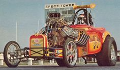 vanderbeer: (via vintage drag racing) Funny Car Drag Racing, Nhra Drag Racing, Funny Cars, Classic Hot Rod, Classic Cars, Course Vintage, Dragster, Car Fuel, Rail Car
