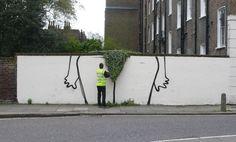 outdoor bush by Banksy
