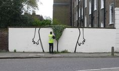 outdoor bush by Banksy