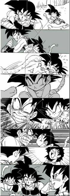 Gine,Bardock and Goku