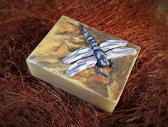 Dragonfly. Inspired by my friend - she loves dragonflies. Colorful dough (shades of brown) I spread a dough on the bar. Wings production - As with polymer clay - Slices of dough stack on top of each other, then wrap and cut. I tried to produce two dragonflies by doing this. Great fun.
