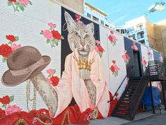 Bold & Pop : Your Guide to Colorful Walls : Raleigh & Carrboro, NC : Cat Mural