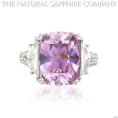 10.08 ct Natural Purplish Pink Sapphire Platinum Ring with 1.00cts of Dia. 60 pave diamonds. (J2612)