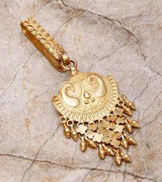 Golden Embossed Key Chain