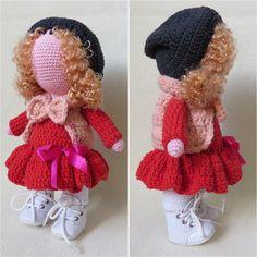 Интерьерная кукла ручной работы, crochet doll