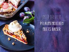 Pflaumenkuchen, Rezept, mit Baiser Haube