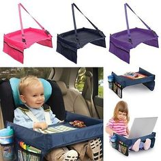 details about kids travel play tray table baby car seat buggy pushchair snack tv laptray hot