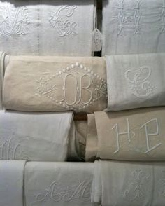 French embroidered monograms
