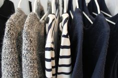 Clothes on a hanger.