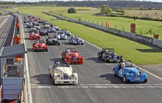 A full grid of Morgans in the last race of 2012 at Snetterton #MorganRacing #SpeedMog #MorganChallenge | #MorganCar | #MorganMotor | #est1909