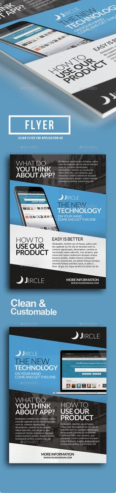 Mobile App Flyer  Mobile App App And Flyer Template