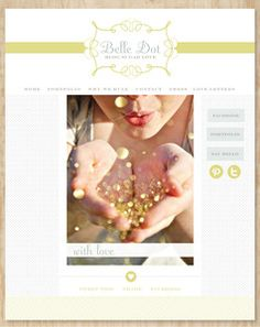 Inspirational blog design