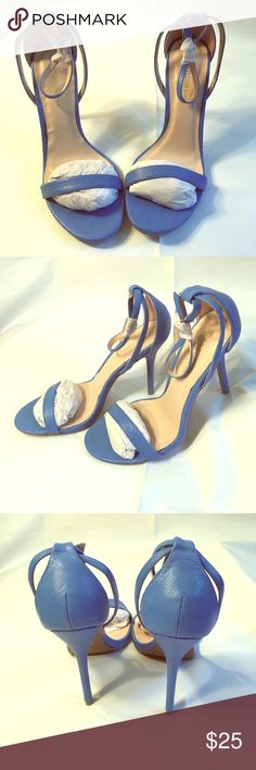 New Blue Wild Diva Heels size 10 Another Spring special! Never worn, blue Heels with ankle strap, no box Wild Diva Shoes Heels