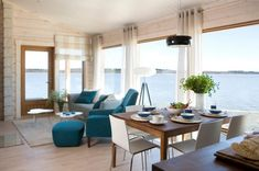 Kommodori is a series of holiday homes with simple Scandinavian architecture. Seaside Living, Florida Home, Interior Design, Outdoor Furniture Sets, Home, Cottages By The Sea, Interior, Home Remodeling, Furniture