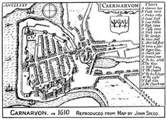 Caernarfon, 1610  Date 	1920  Source 	The Evolution of a Coast-Line  * http://www.archive.org/details/evolutionofcoast00ashtrich  Author 	William Ashton  Permission  (Reusing this file) 	    Public domain (70 years post mortem auctoris)