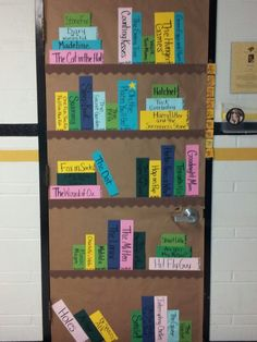 My door for literacy night