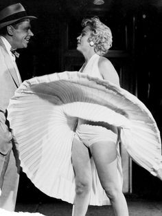 Marilyn and Tom Ewell on the set of The Seven Year Itch, 1954.