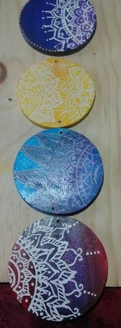 Móvil Mandalas colores de los Chakras
