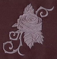 """""""Baroque Punk Rose""""  Craft a fancy look with a punky twist! Stitched in just one color, this tattoo-style motif is digitized with lots of detail and dimension.  -  UT4129 (Machine Embroidery)  00358365-102912-0745-8"""
