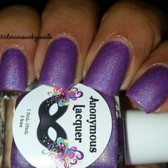 Anonymous Lacquer - Grape Laffy Taffy - Hella Holo Customs polish - April 2015  https://www.facebook.com/groups/HellaHoloCustoms/