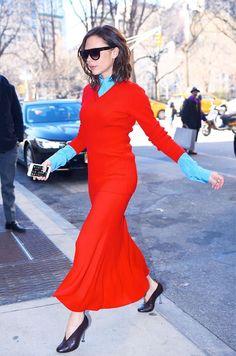 Victoria Beckham style: Add Bright Blue