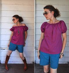 Vintage Over the Shoulder Blouse Senorita by LaDeaDeiSogni on Etsy
