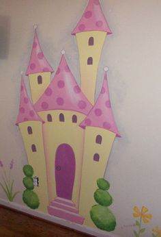 Small Drawings, Cute Drawings, Girl Room, Girls Bedroom, Kids Background, Disney Rooms, Baby Room Decor, Wall Decor, Princess Theme