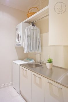 Best 20 Laundry Room Makeovers - Organization and Home Decor Laundry room decor Small laundry room organization Laundry closet ideas Laundry room storage Stackable washer dryer laundry room Small laundry room makeover A Budget Sink Load Clothes Laundry Room Layouts, Small Laundry Rooms, Laundry Room Organization, Laundry Storage, Laundry In Bathroom, Storage Room, Budget Organization, Closet Storage, Storage Ideas