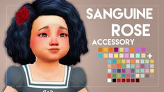 Simsworkshop: Sanguine Rose - For Toddlers • Sims 4 Downloads