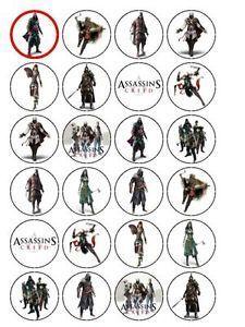 24 X Assassins Creed 15 Edible Pre Cut Premium Rice Paper Cup Cake picture 14742