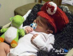 Mario -Newborn Baby Photo Prop set Hat, Jeans and Binky-. $22.00, via Etsy.