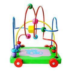 Toddler Baby Bead Maze Development Educational Wooden Toy Kid Children Game Play #ToddlerBabyChina