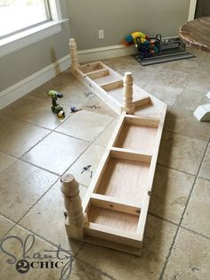 Build this DIY Window Bench seat in a few simple steps! Easy to customize to fit any space! Free plans and how-to instruction at Kitchen Nook Bench, Dining Nook, Kitchen Tables, Diy Kitchen, Dining Chairs, Dining Table, Cocina Shabby Chic, Shabby Chic Kitchen, Bay Window Benches