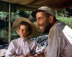 "Katarine Hepburn as Rosie and Humphrey Bogart as Charlie Allnut in ""The African Queen""  (1951) Humphrey Bogart - Best Actor Oscar 1951"