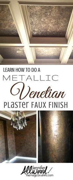 Inspiration for Kim - This Venetian Plaster Faux finish has to be one of our very most popular finishes for ceilings in particular. But, we've also done this in offices, powder bath rooms, focal walls, bar areas, man caves and even on round columns!!! It's simple enough for a novice painter or DIY'er to execute beautifully and yet gorgeous enough for a faux painter to add to their portfolio of finishes! See more Wall & Ceiling Finish DIY videos at theMagicBrushinc.com