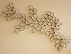 Toilet paper roll art. You really could create just about any kind of design with these.
