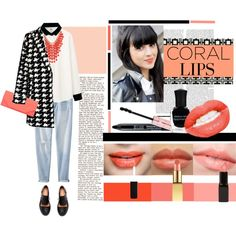 """""""Beauty Trend: Coral Lips"""" by loveyourselves on Polyvore"""