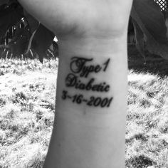 Type 1 diabetes tattoo.  I absolutely love mine:) even put the date i was diagnosed underneath :)