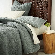 Braided Quilt + Shams - Blue Sage #westelm