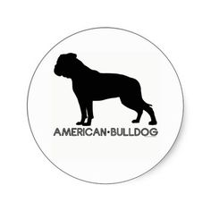 american bull dog silhouette - Google Search